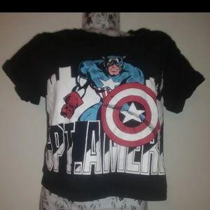 Marvel Captain America Crop top shirt